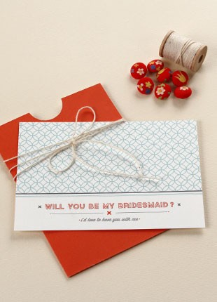 "Size: 5"" x 3 1/2""We've added free 'Will you be my Bridesmaid' cards. Light up the faces of your Bridesmaids when they receive this cute handmade card with your message."
