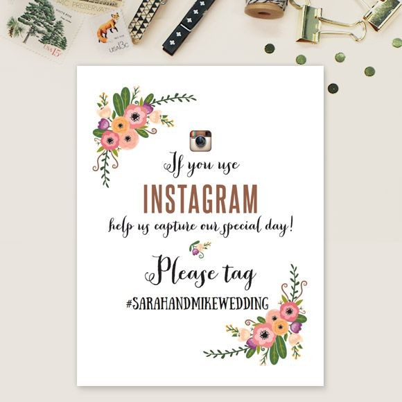 Botanical Love Instagram Sign
