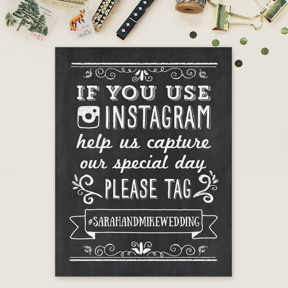 Chalkboard Instagram Sign