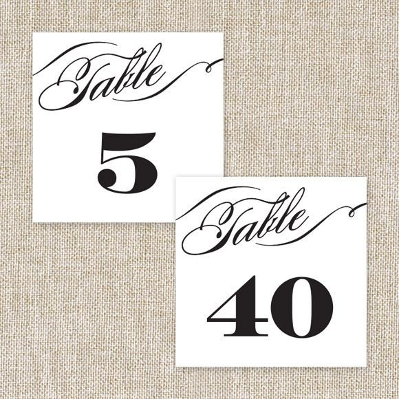 Cheri Table Numbers