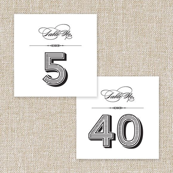 Lovely Vintage Table Numbers