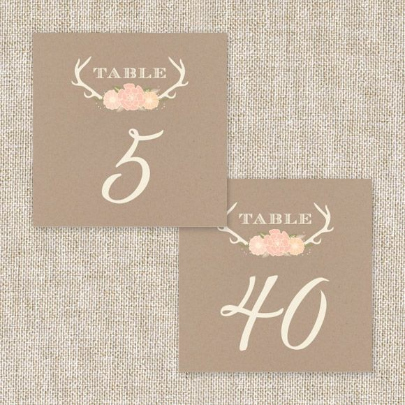 Blooming Antlers Table Numbers