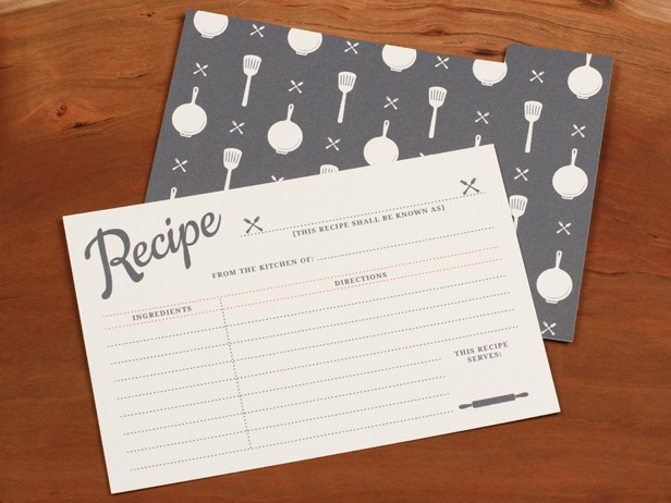 These cards have a vintage feel balanced by a touch of modern style that is sure to fit with any kitchen decor.