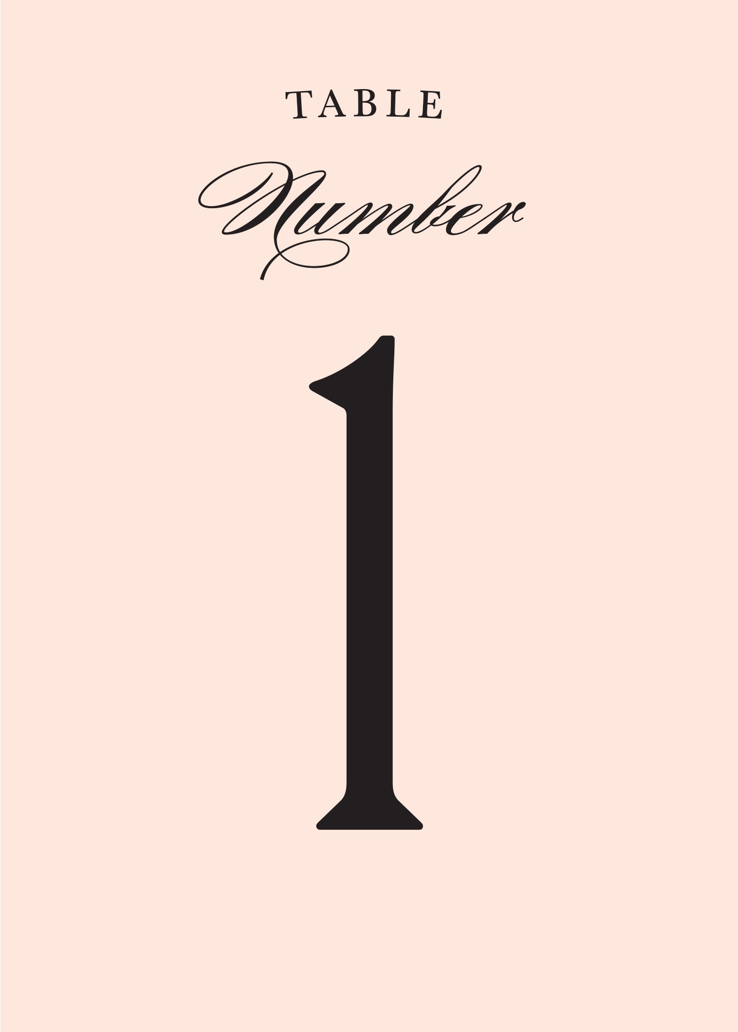 Ampersand Table Numbers Printable