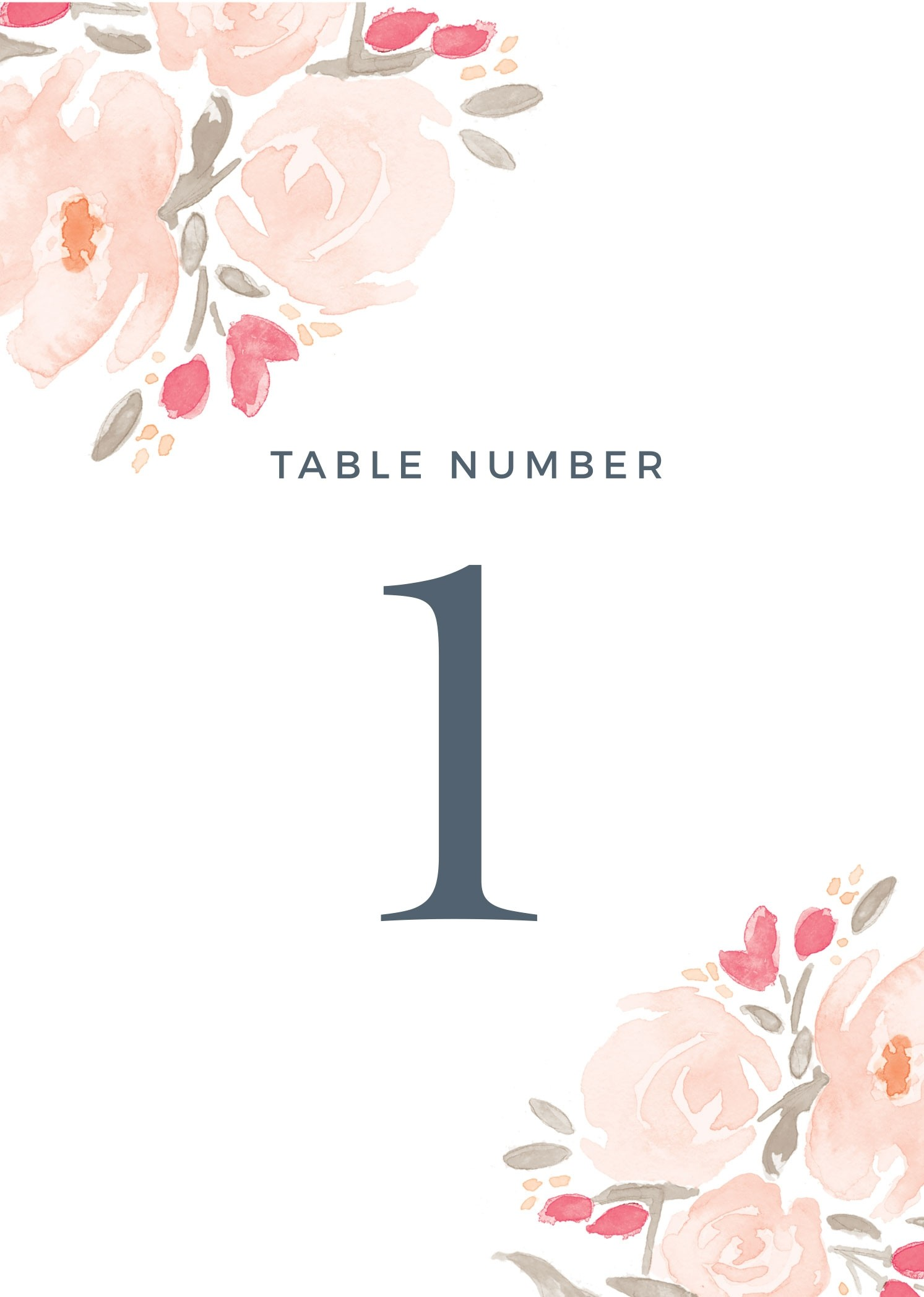 printable printable wedding table number template free templates
