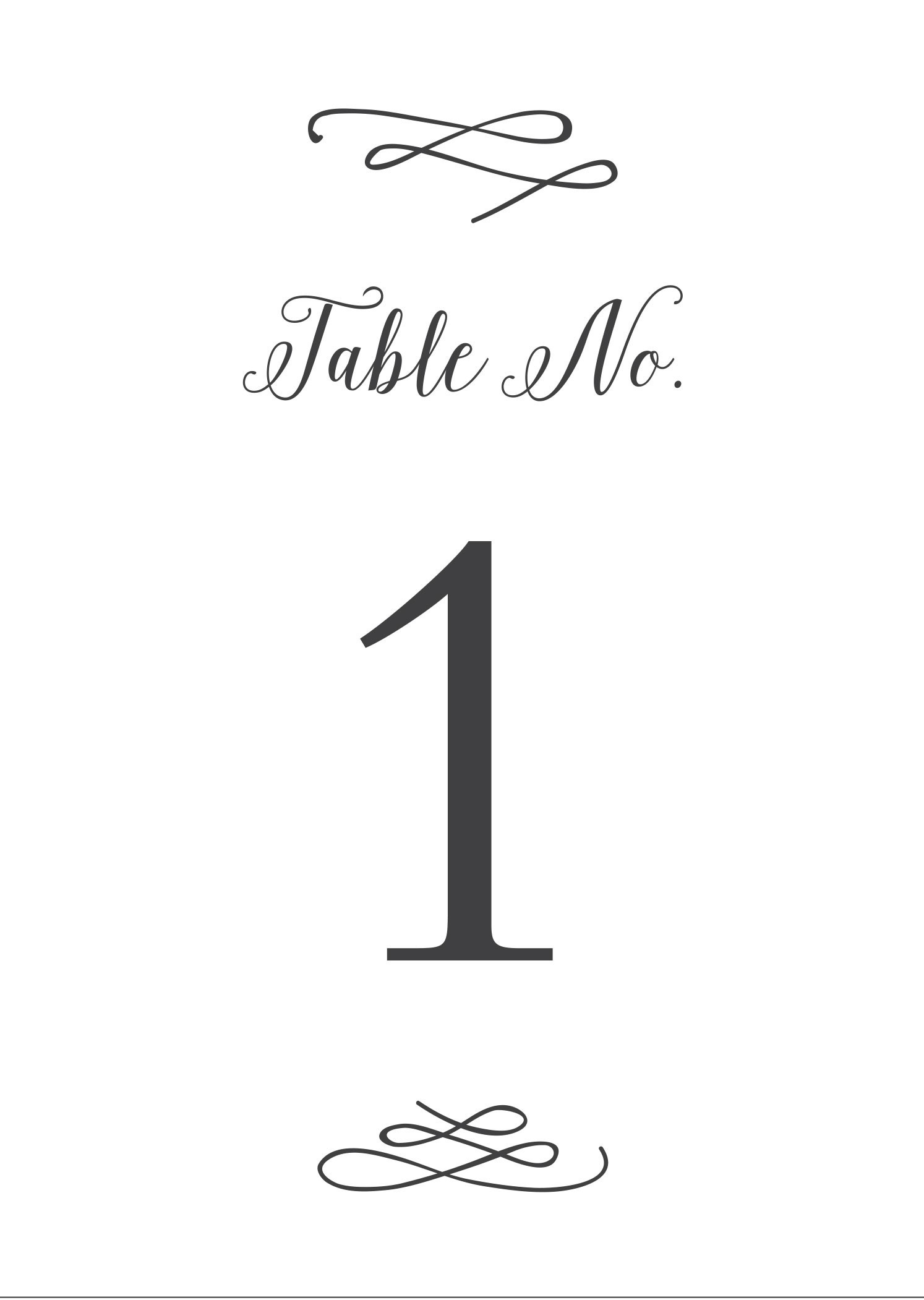 Wedding Table Numbers | Printable PDF by Basic Invite