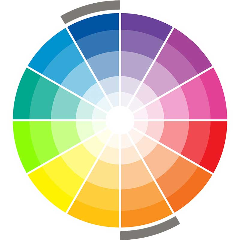 Complementary wedding color wheel