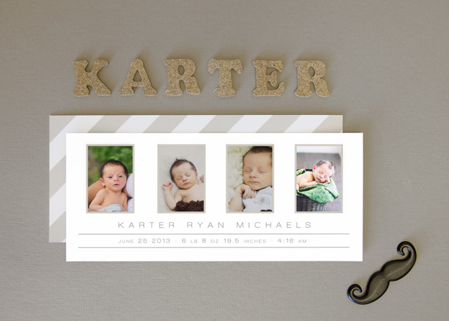 Formal Photo Birth Announcements