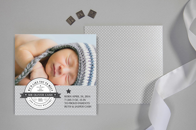 Stamp Of Approval Birth Announcements