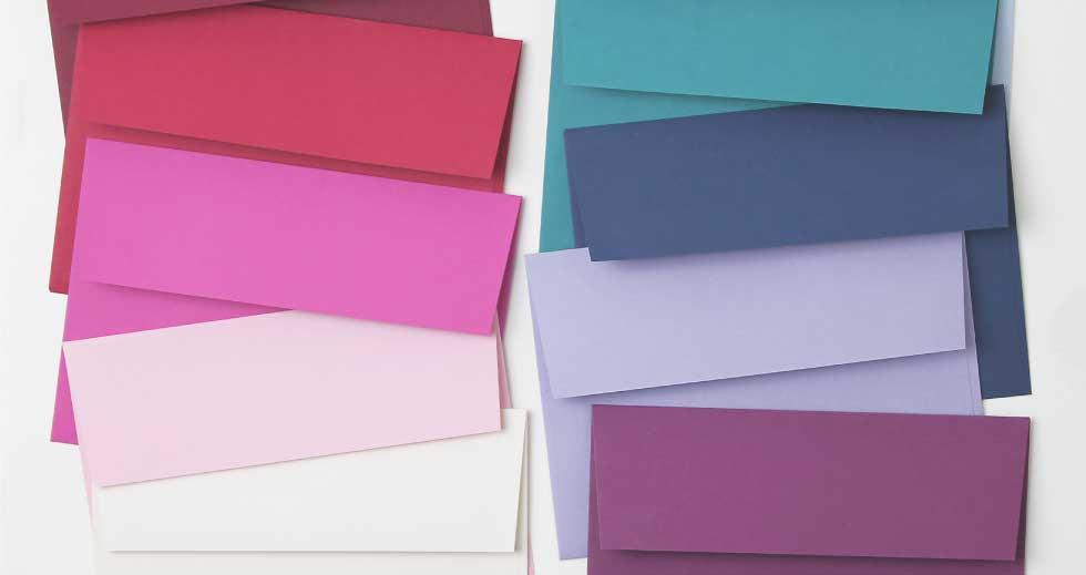 Dozens of Envelope Colors