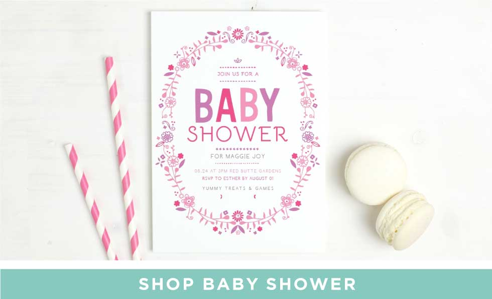 Baby Announcements and Baby Shower Invitations by BasicInvite.com
