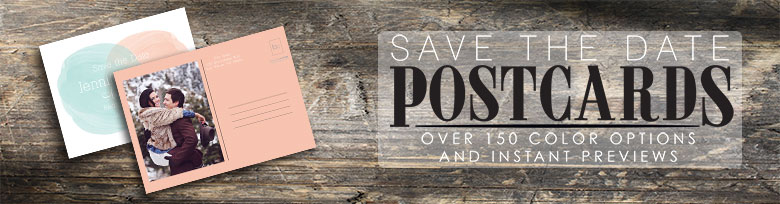 Save the Date Postcards with over 8 Different Postcards Backs