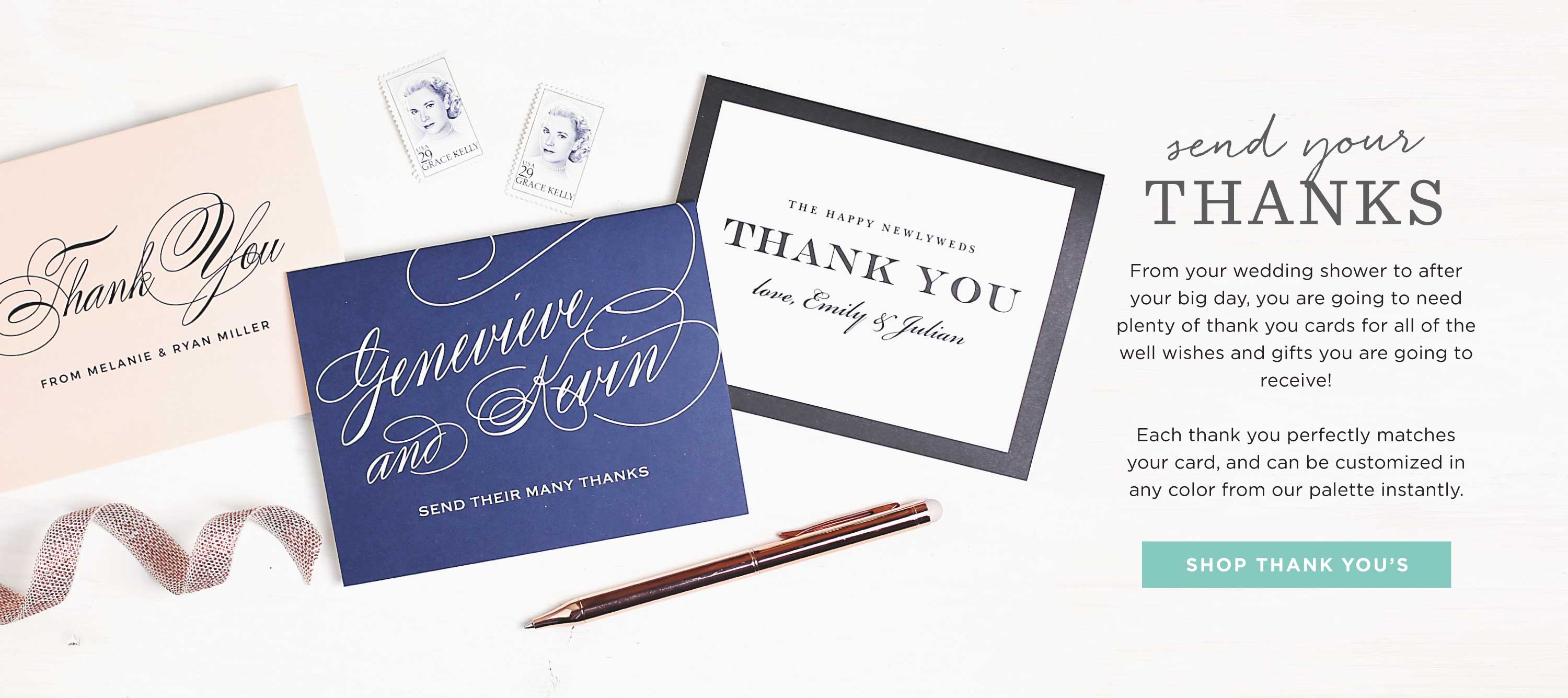 Thank you cards by Basic Invite