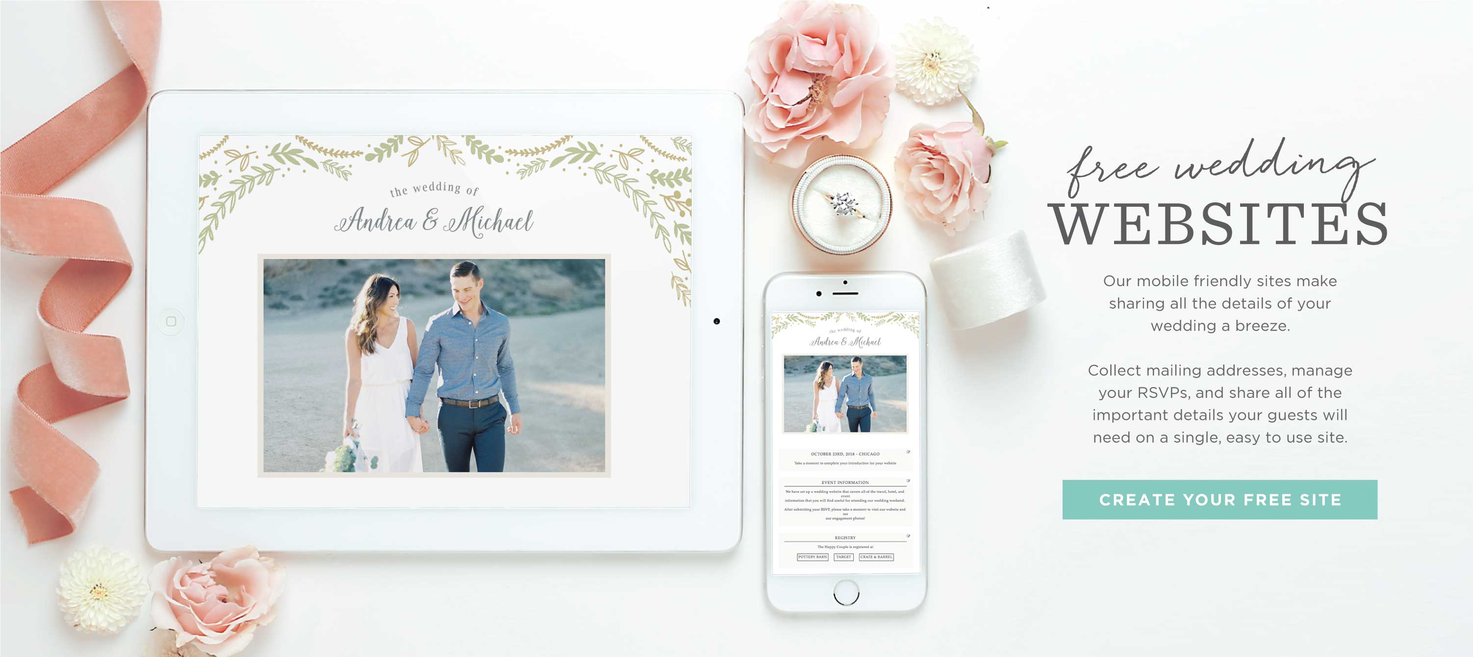 Free Wedding Websites by Basic Invite