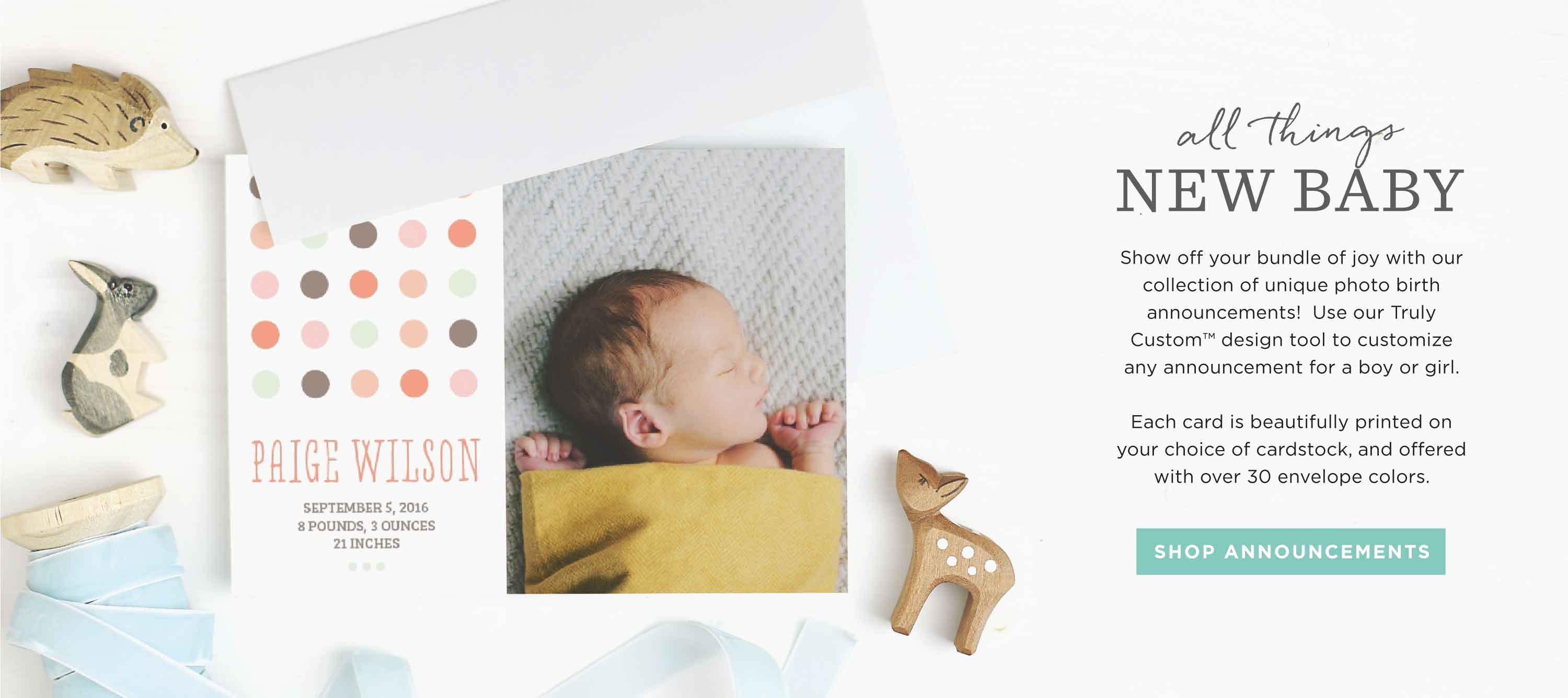 Invitations Announcements and Photo Cards – Baby Birth Invitation Card