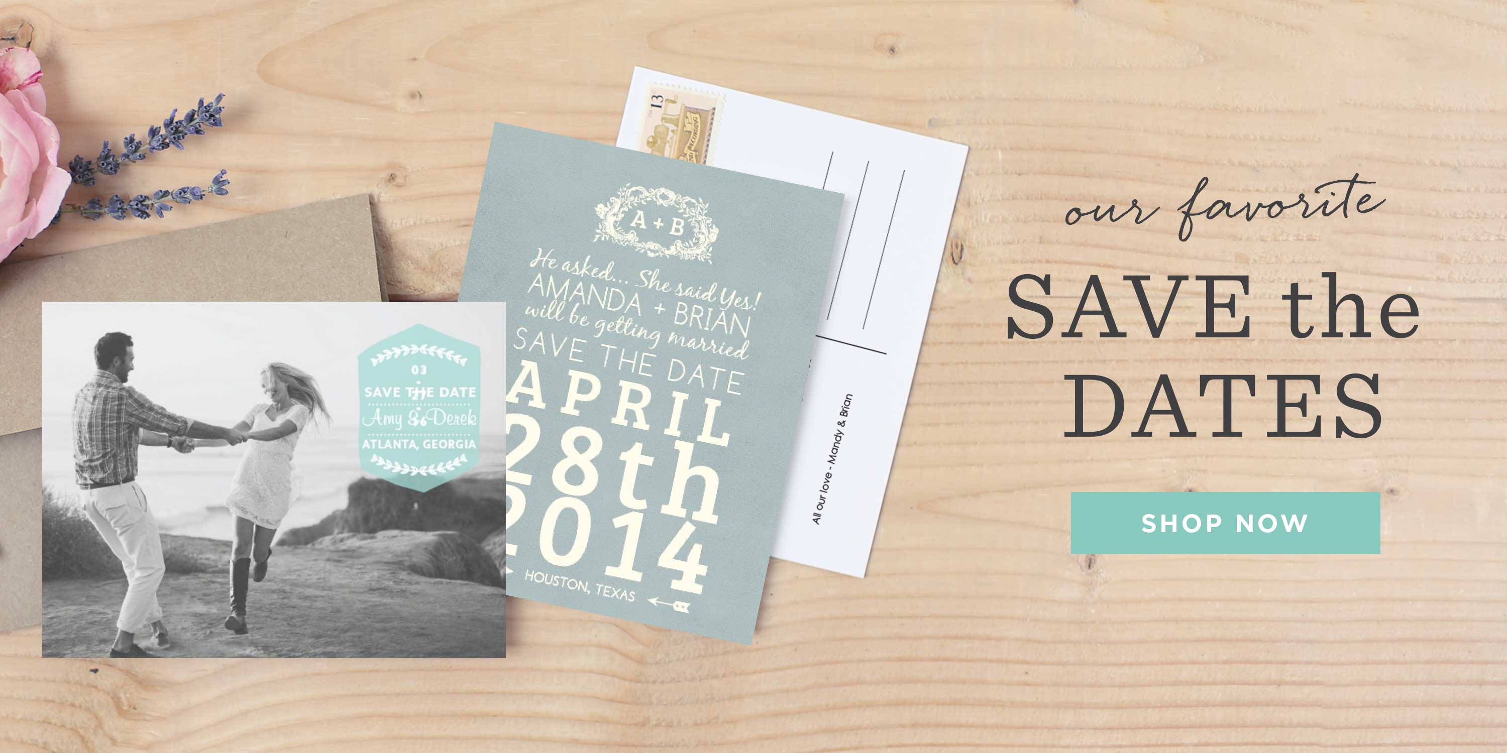 Save the date cards, magnets, postcards and more.