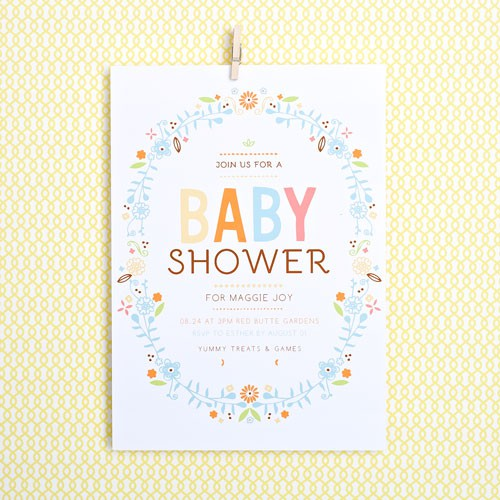 Baby Girl Shower Cards