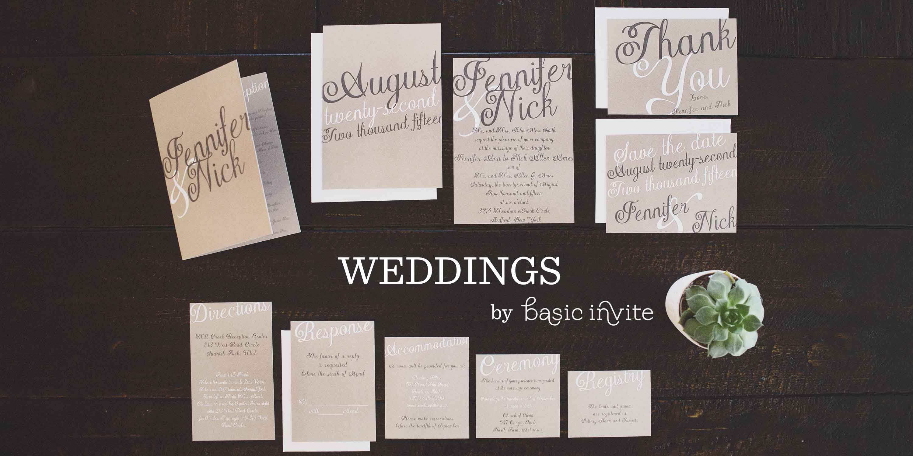 Kraft Wedding Invitations By Basic Invite