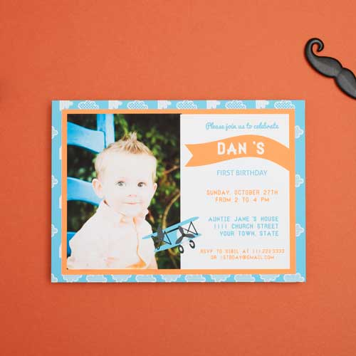 Boy 1 Year Birthday Party Invitations