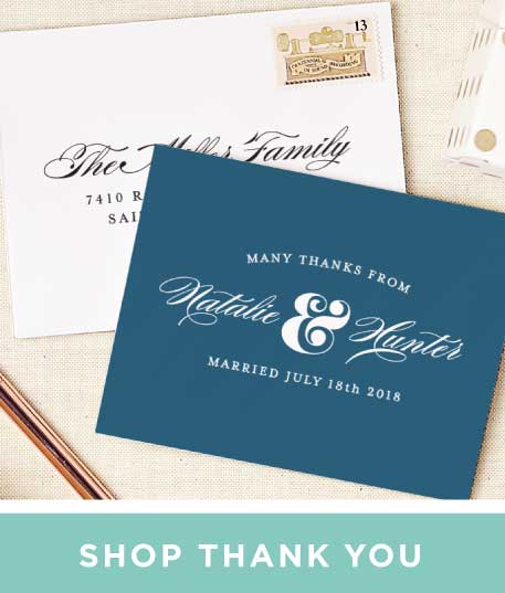 Wedding invitations match your color style free thank you cards stopboris Image collections