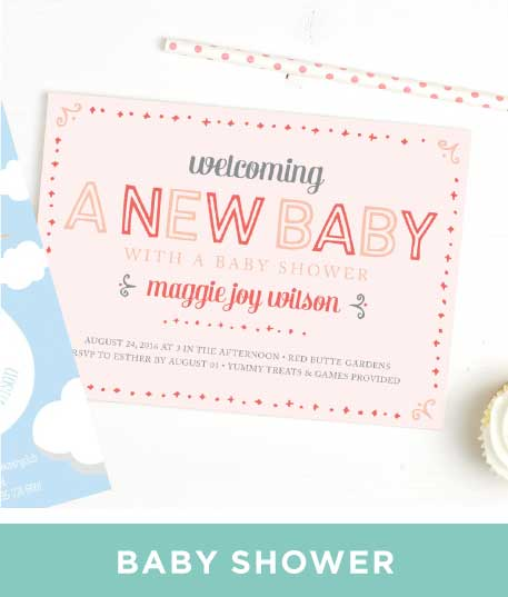 Baby Shower Invitations For Boys Basic Invite - Baby shower invitation text