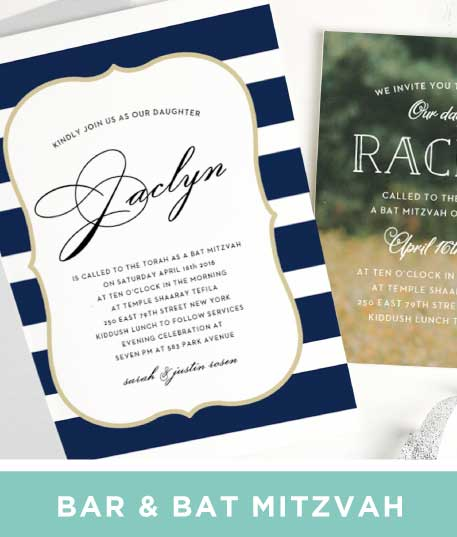 Save the date cards match your colors style free basic invite bar mitzvah and bat mitzvah invitations stopboris Choice Image