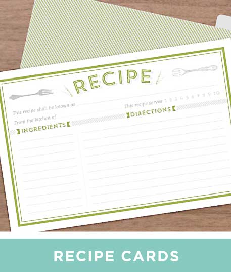 Recipe Card Printables