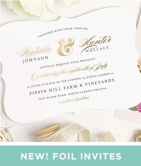 foil wedding invitations new wedding invitations - Picture Wedding Invitations