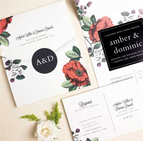 Seal and Send Wedding Invitations AllinOne Wedding Invitations