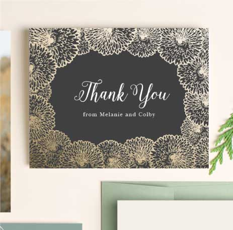wedding thank you cards wedding thank you notes by basic invite - Wedding Thank You Cards