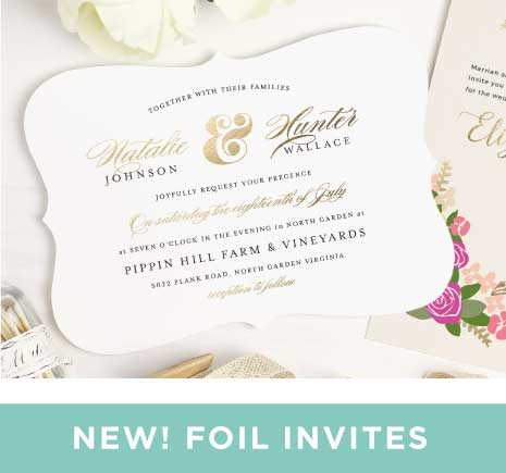 wedding invitations | match your color & style free!,