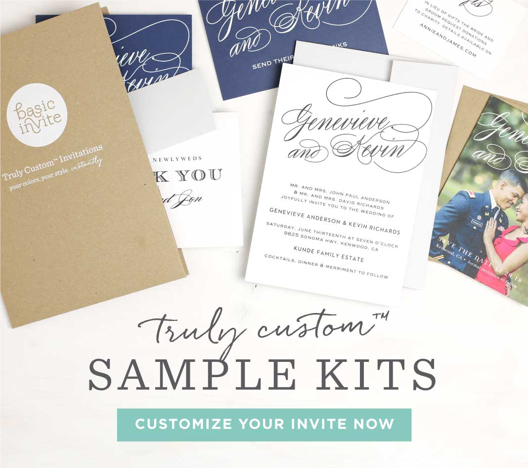 Truly Custom Samples Save the dates Foil Wedding Invitations