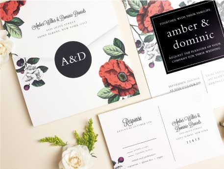 Wedding invitations match your color style free save the dates seal and send wedding invitations stopboris Image collections