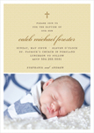 TINY CROSS BOY BAPTISM INVITATIONS