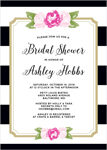 FLORAL STRIPE BRIDAL SHOWER INVITATIONST