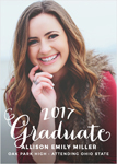 HAND LETTERED GRADUATION ANNOUNCEMENT