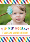 HIP HIP HOORAY FIRST BIRTHDAY INVITATIONS