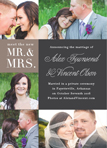 NEW MR. AND MRS. WEDDING ANNOUNCEMENT