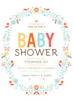 BABY WREATH SHOWER INVITATION