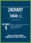 Bordered Bar Mitzvah Invitations