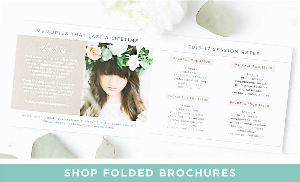 Shop Folded Promotional Brochures
