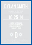 Centered Bar Mitzvah Invitations