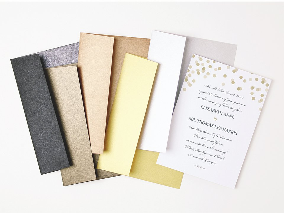 Metallic Peel and Seal Invitation Envelopes