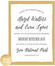 Painted Border Foil Wedding Invitation