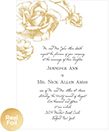 Illustrated Rose Foil Wedding Invitations