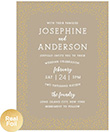 Gold Confetti Dots Foil Wedding Invitation