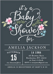 GARDEN FLOWERS BABY SHOWER INVITATIONS