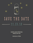 Mason Jars & Fireflies Save The Date Card