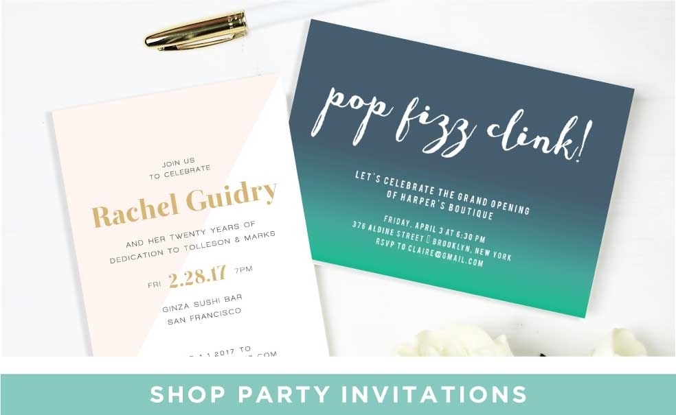 Shop Party Invitations