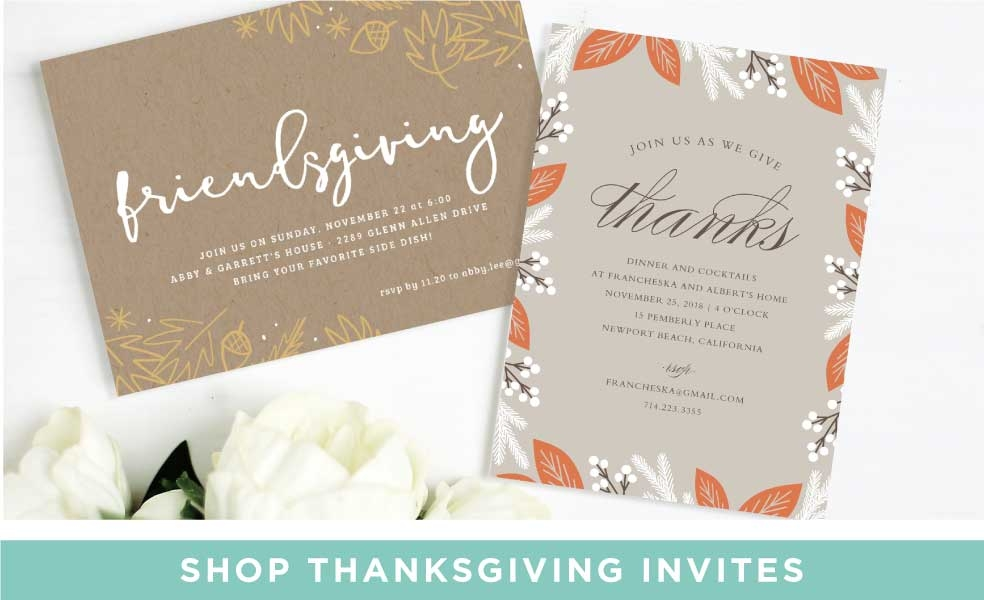 Shop Thanksgiving Invitations